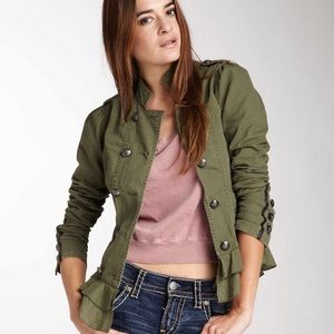 Jackets & Blazers - Unique Silver Jeans co. Military jacket!